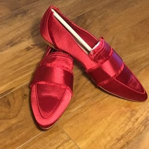 Lord & Taylor 424 Fifth Hayden Satin Loafers Sz 9